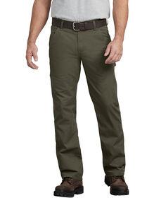 Pantalon menuisier FLEX, coupe standard, jambe droite, en tissu antidéchirure Tough Max™ - Vert mousse rincé (RMS)