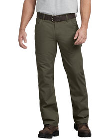 FLEX Regular Fit Straight Leg Tough Max™ Ripstop Carpenter Pant - RINSED MOSS GREEN (RMS)