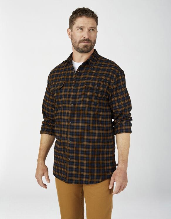 Chemise à manches longues FLEX en flanelle - Black Brown Duck Plaid (BPU)