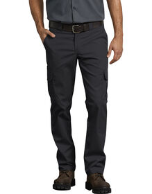 FLEX Slim Fit Straight Leg Cargo Pants - Black (BK)