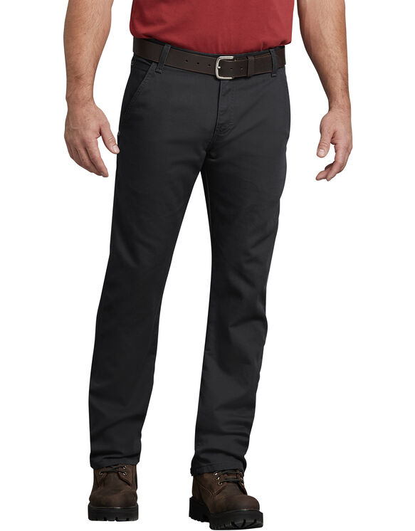 Pantalon menuisier FLEX, coupe standard, jambe droite, en coutil Tough Max™ - Stonewashed Black (SBK)