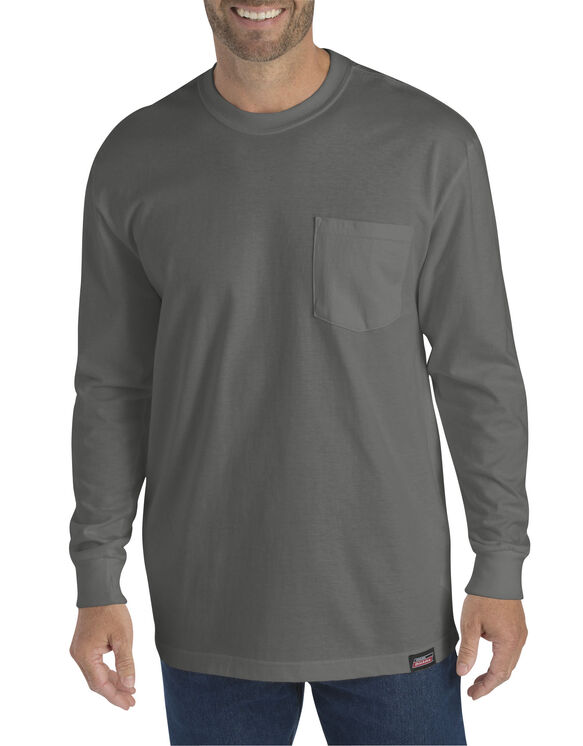 Genuine Dickies Long Sleeve Heavyweight Crew Neck Tee - Gravel Gray (VG)