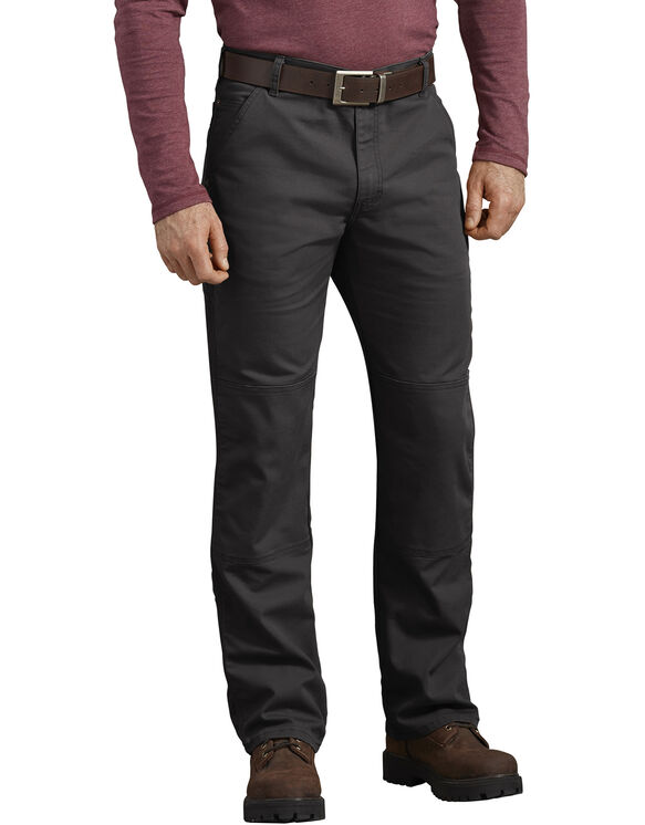 FLEX Regular Fit Duck Double Knee Pants - Stonewashed Black (SBK)