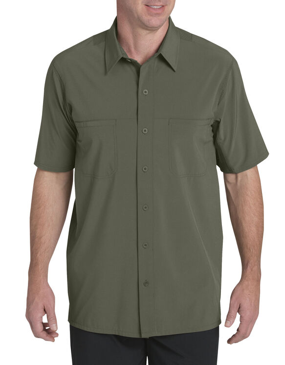 Performance 4-Way Flex Woven Cooling Shirt - Moss Green (MS)