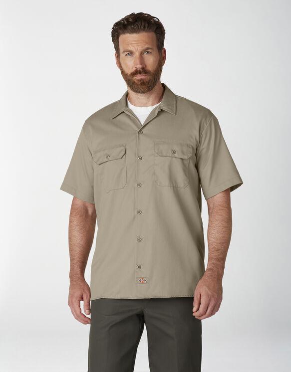 Short Sleeve Work Shirt - Desert Khaki (DS)