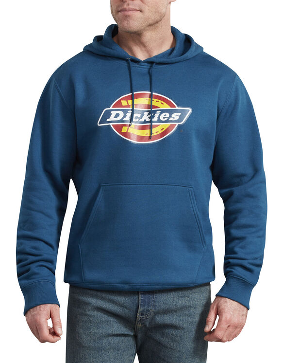Relaxed Fit Logo Fleece Pullover Hoodie - Storm Blue (SU1)