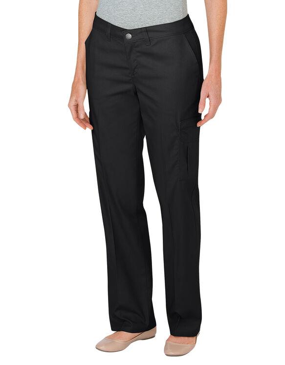 Pantalon cargo décontracté de qualité supérieure à jambe droite pour femmes - Noir (BK)