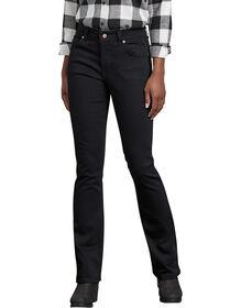 Jeans extensible Forme parfaite à jambe semi-évasée pour femmes - Noir rincé (RBK)