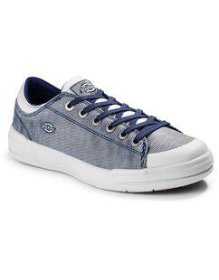 Women's Supa Dupa Soft Toe Shoes - Blue White Hickory Stripe (HS)