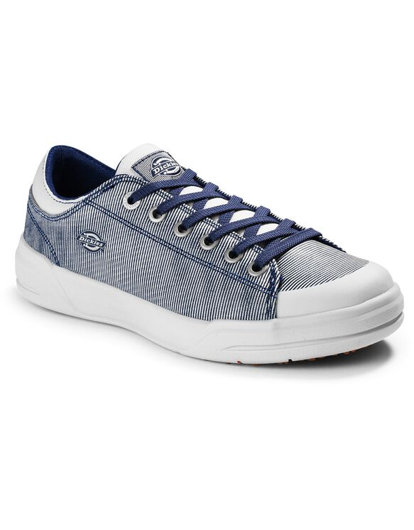 Women's Supa Dupa Soft Toe Shoes - Blue White Hickory Stripe (HS)