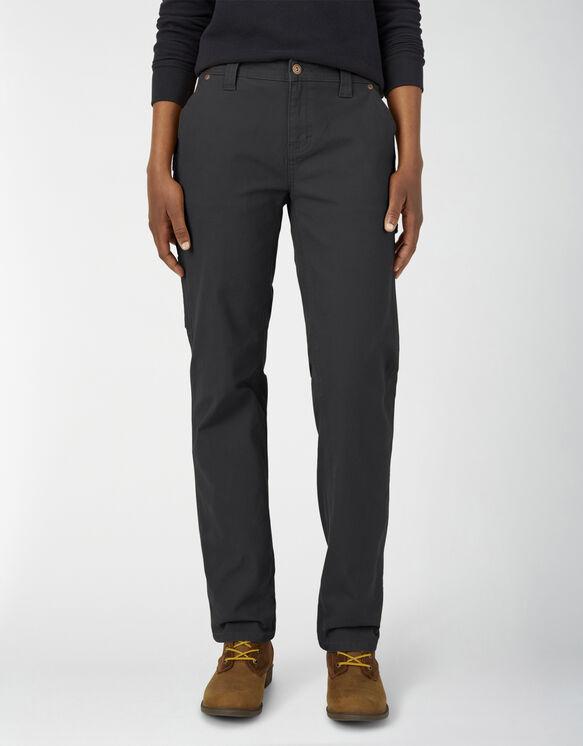 Pantalon menuisier en coutil pour femmes - Rinsed Black (RBK)