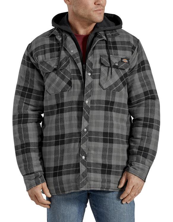 Veste-chemise piquée emblématique à capuchon, coupe décontractée - Slate Graphite Plaid (SGP)
