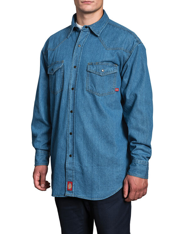 Denim Shirt - Stonewashed Indigo Blue (SW)
