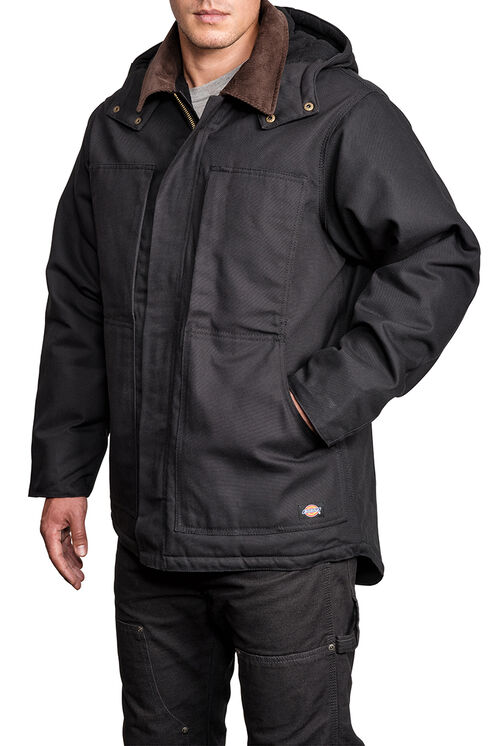 Blouson en coutil de qualité supérieure avec capuchon - Black (BK)