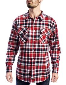 Long Sleeve Plaid Shirt - Black Red Tone (BKER)
