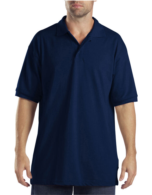 Adult Sized Short Sleeve Pique Polo Shirt - Dark Navy (DN)
