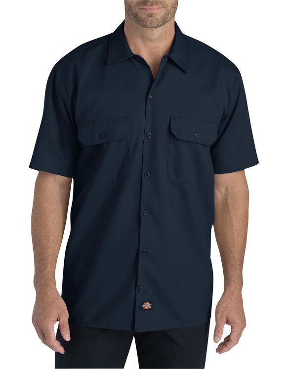 Chemise de travail à manches courtes en tissu croisé souple - Dark Navy (DN)