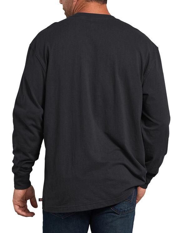 T-shirt à manches longues emblématique de coupe standard avec imprimé - Black (ABK)