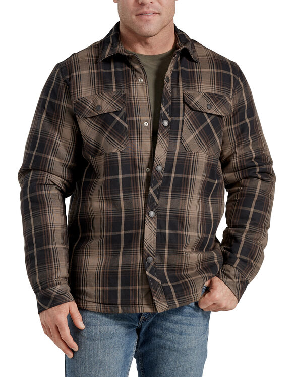 Sherpa Lined Shirt Jacket - Black/Mushroom Plaid (CUP)