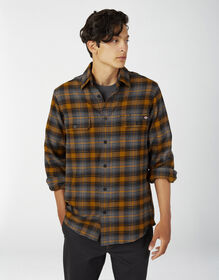 Chemise FLEX en flanelle de coupe standard - Autumn Gold Gray Plaid (APA)