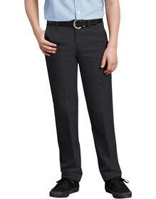 Pantalon kaki Ultimate à jambe droite de coupe ajustée à ceinture FlexWaist® pour garçons, 8-20 - Black (BK)