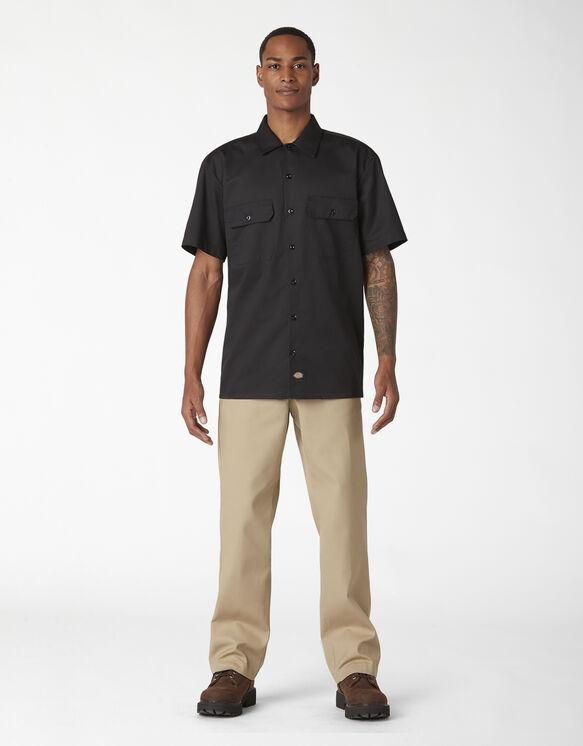Chemise de travail à manches courtes en sergé FLEX - Black (BK)