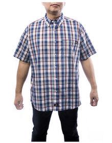 Men's Plaid Button Up Shirt - BLUE (BL9)