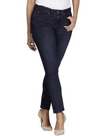 Women's Perfect Shape Curvy Fit Skinny Leg Stretch Denim Jeans - Rinsed Indigo Blue (RNB)