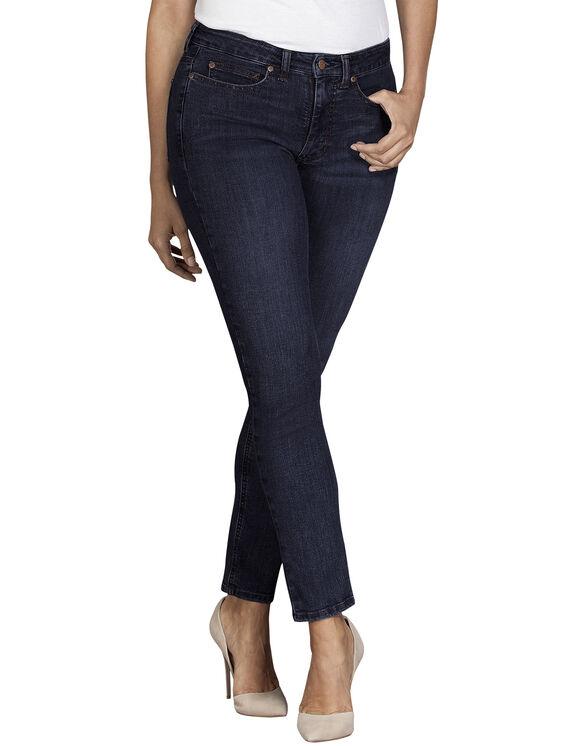 Jeans extensible Forme parfaite à jambe étroite et coupe galbée pour femmes - Bleu indigo rincé (RNB)