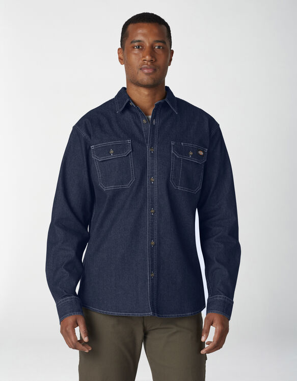 FLEX Denim Long Sleeve Shirt - Dark Denim Wash (DW2)