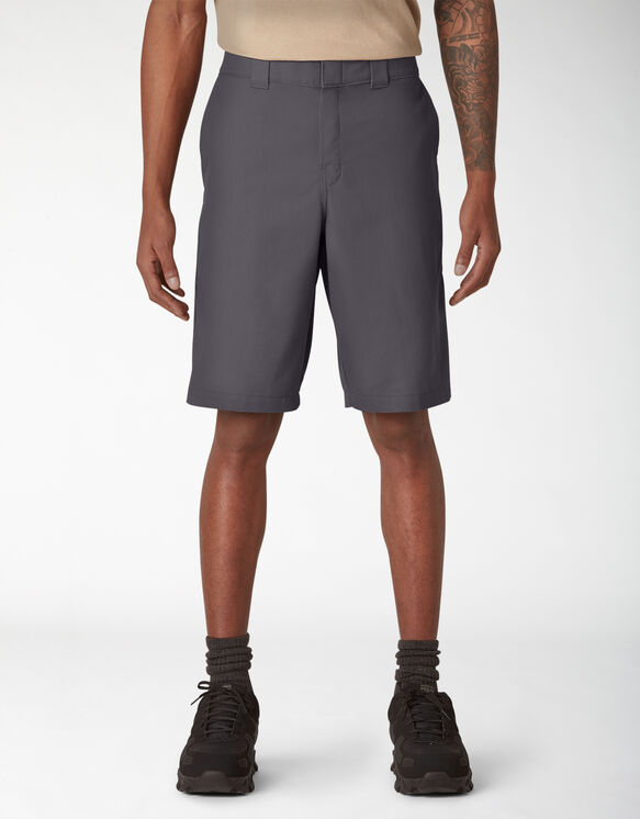 Cooling Temp-iQ™ Active Waist Twill Shorts - Charcoal Gray (CH)