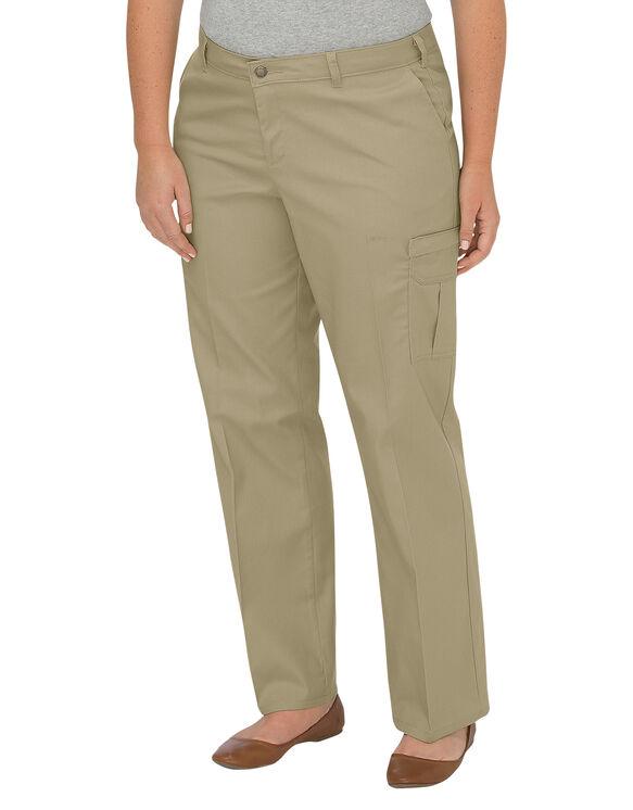 Women's Premium Relaxed Straight Cargo Pants (Plus) - Desert Khaki (DS)