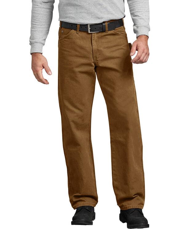 Jeans menuisier à jambe droite et coupe décontractée en coutil brossé - Brown Duck (RBD)