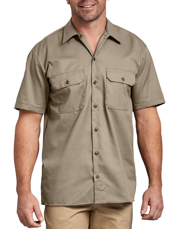 Short Sleeve Work Shirt - Desert Khaki (DS)