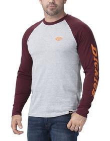 T-shirt à manches longues de style baseball - Dark Port Heather Gray (HGDP)