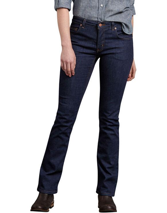 Women's Perfect Shape Bootcut Stretch Denim Jeans - Rinsed Indigo Blue (RNB)