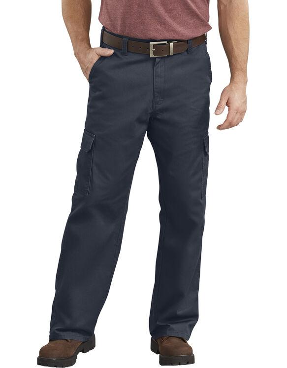 Loose Fit Straight Leg Cargo Pants - Dark Navy Blue (RDN)