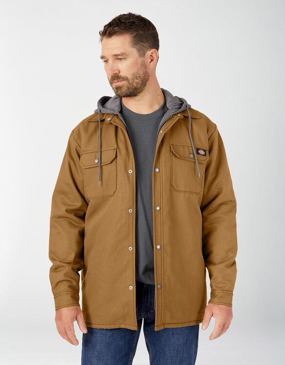 Fleece Hooded Duck Shirt Jacket with Hydroshield - Brown Duck (BD)