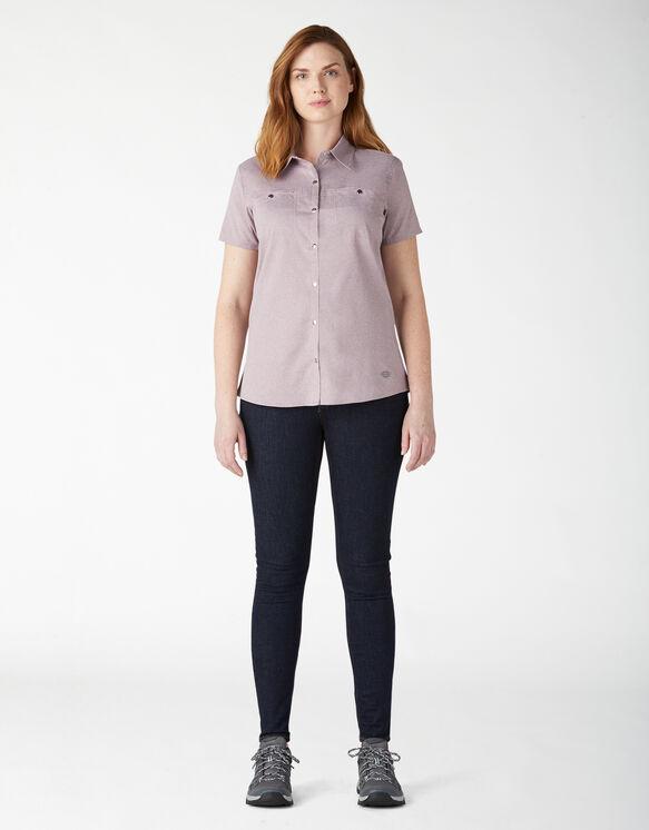 Chemise de travail à manches courtes Temp-iQ™ pour femmes - Lilac Heather (ICH)