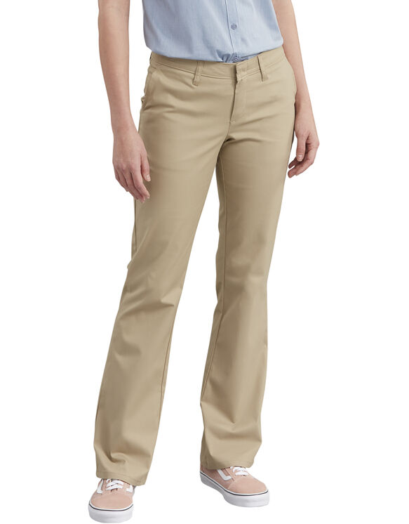 Women's Slim Fit Bootcut Stretch Twill Pants - Desert Khaki (DS)