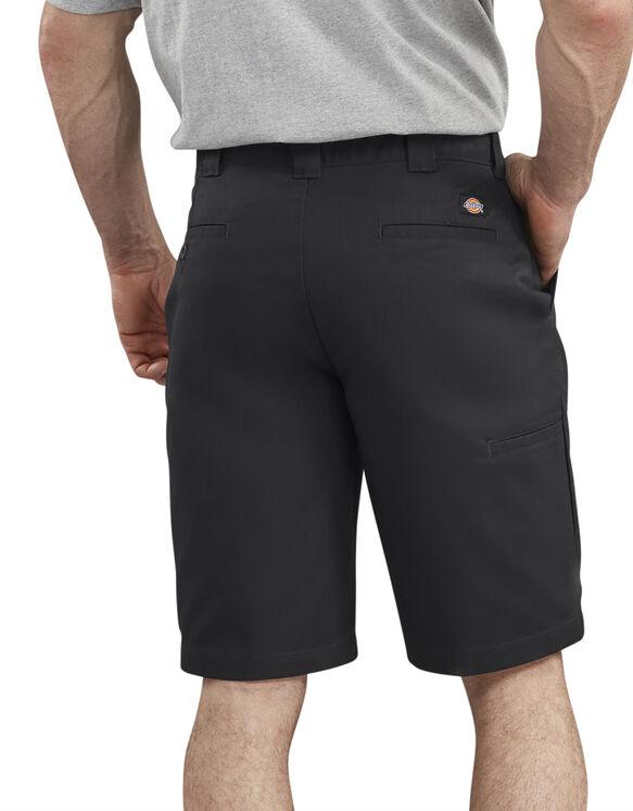 Short de 11po sans pli à ceinture adaptable - Black (BK)