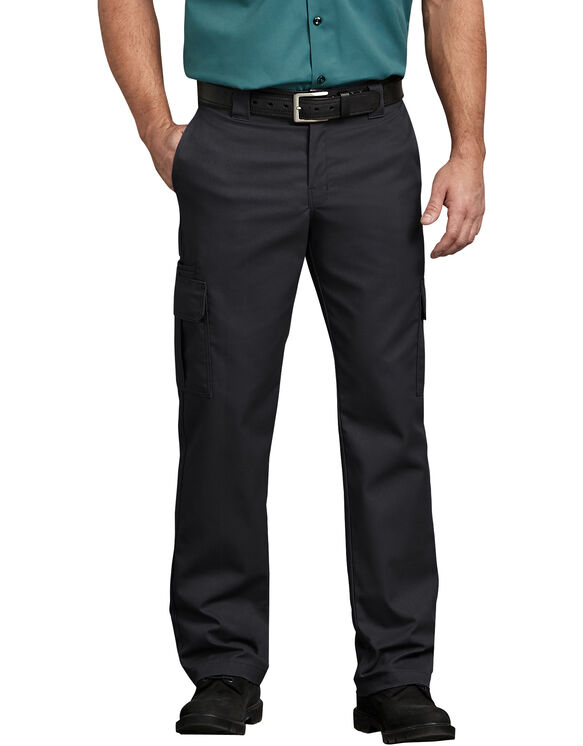 Flex Regular Fit Straight Leg Cargo Pant - Black (BK)