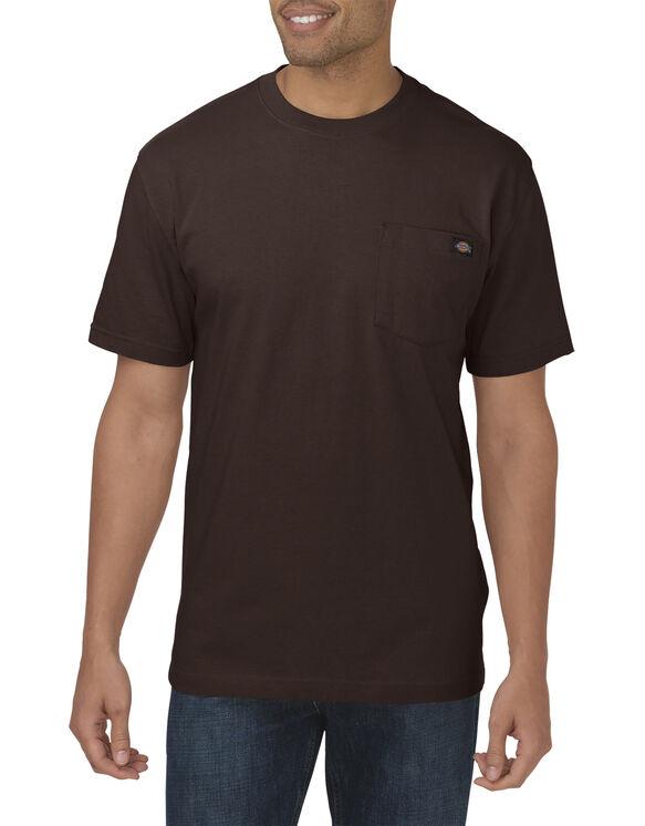 Short Sleeve Heavyweight Crew Neck Tee - Dark Brown (CB)
