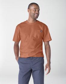 Short Sleeve Heavyweight Henley Shirt - Auburn (AN1)