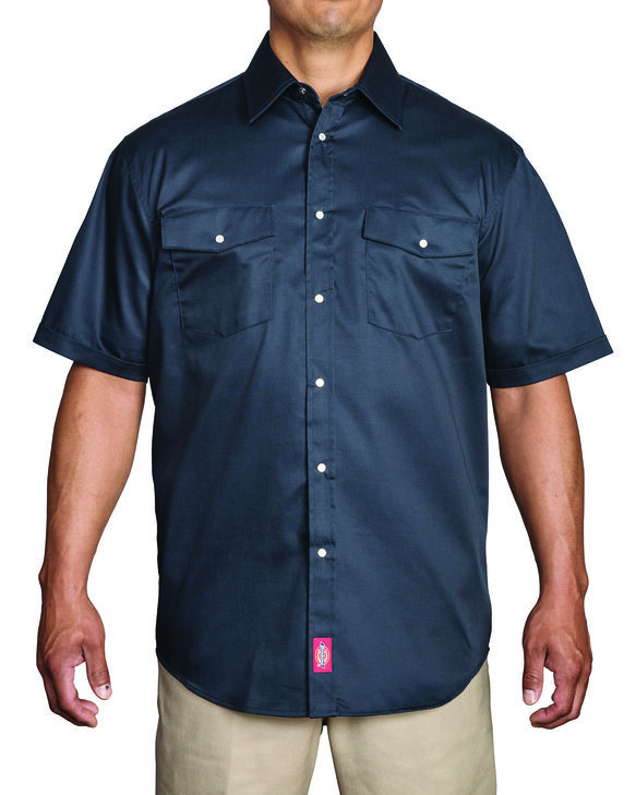 Chemise de travail à manches courtes avec fermeture à boutons-pression - marine foncé (DN)