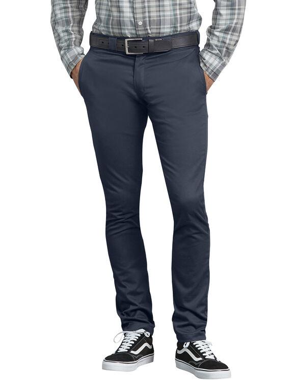 Pantalon de travail en toile croisée à coupe étroite droite - Dark Navy (DN)
