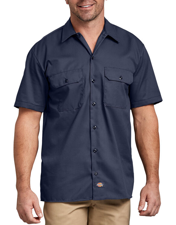 Short Sleeve Work Shirt - Navy Blue (NV)