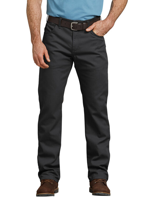 Pantalon 5 poches FLEX, coupe standard, jambe droite, en coutil Tough Max™ - Stonewashed Black (SBK)