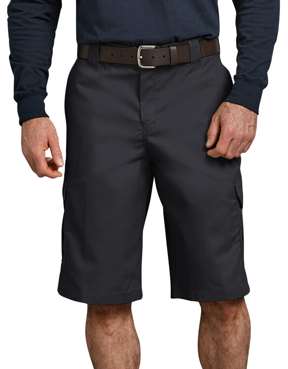 "FLEX 13"" Relaxed Fit Cargo Shorts - Black (BK)"