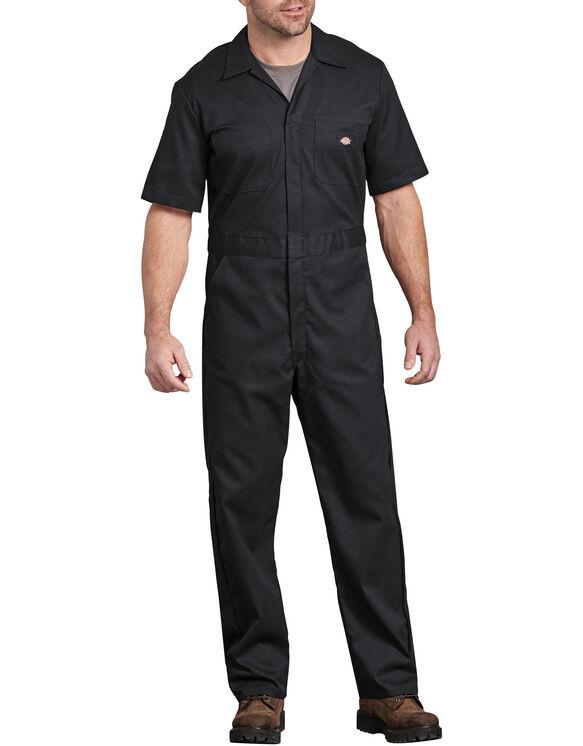 FLEX Short Sleeve Coveralls - Black (BK)